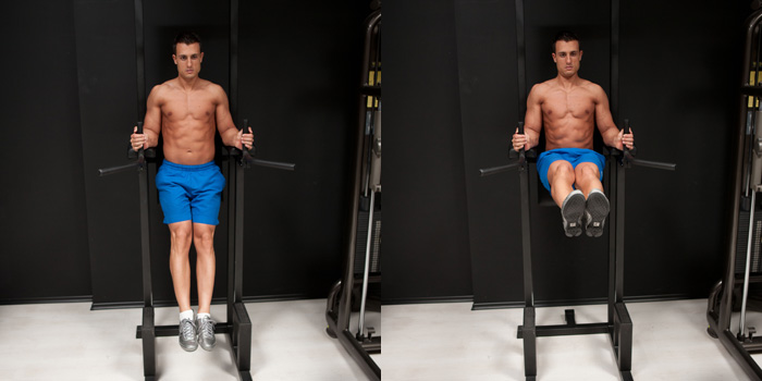 Leg Raise On Parallel Bars six-pack abs